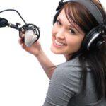 Запись женского голоса