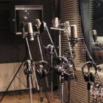 Парк микрофонов на звукозаписывающей студии
