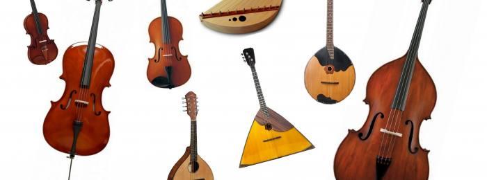 Записать струнные инструменты
